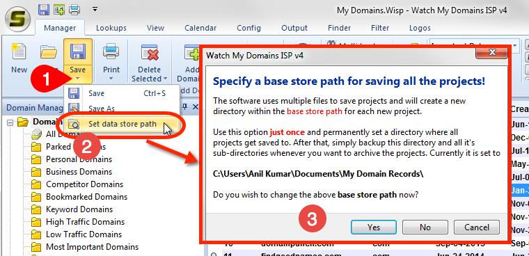 data store path