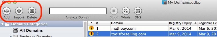 adding domains (mac)