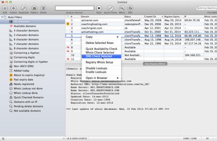 Domain Name Analyser Mac