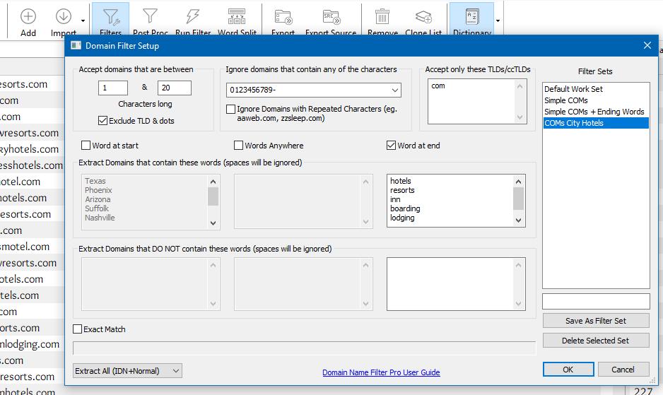 Domain Name Filter Setup