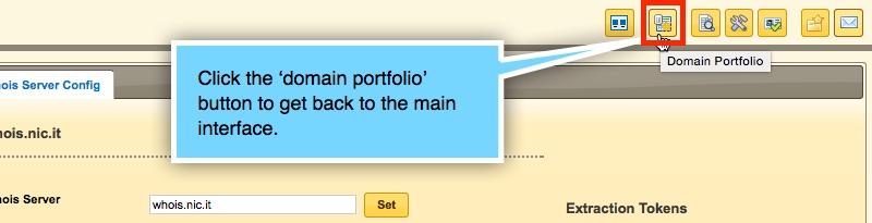 Domain portfolio Button