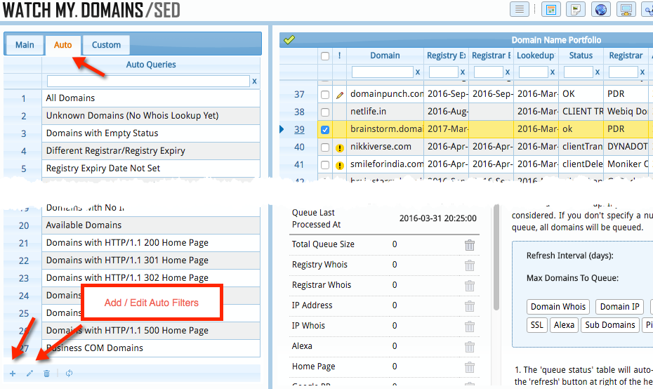 Domain Display Filters