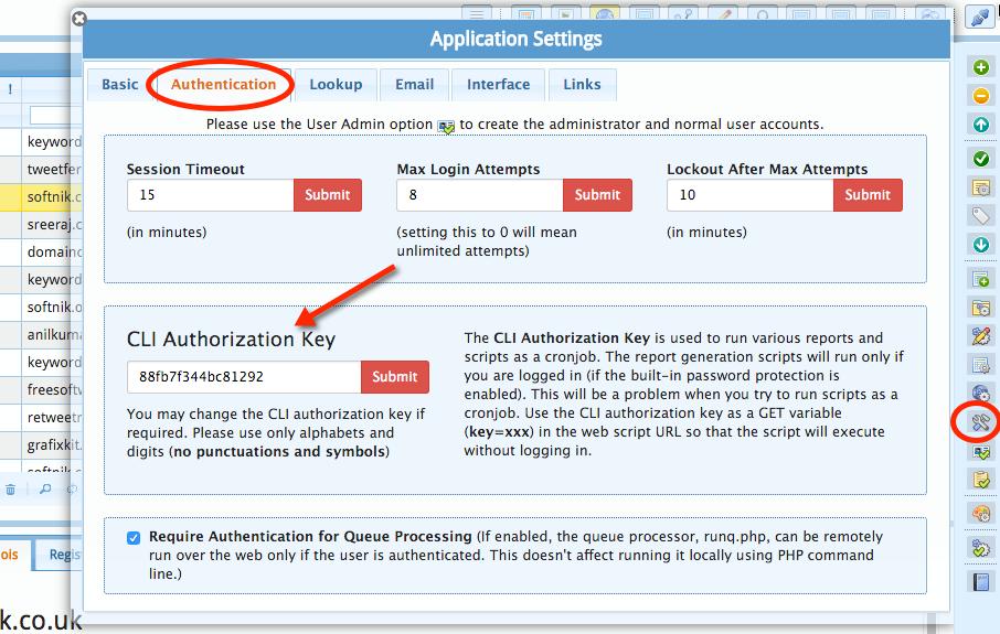 CLI Authorization Key