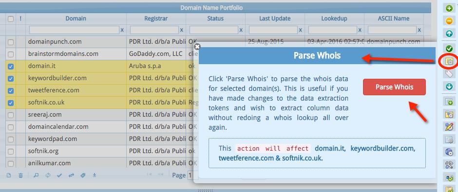 Parse Domain Whois