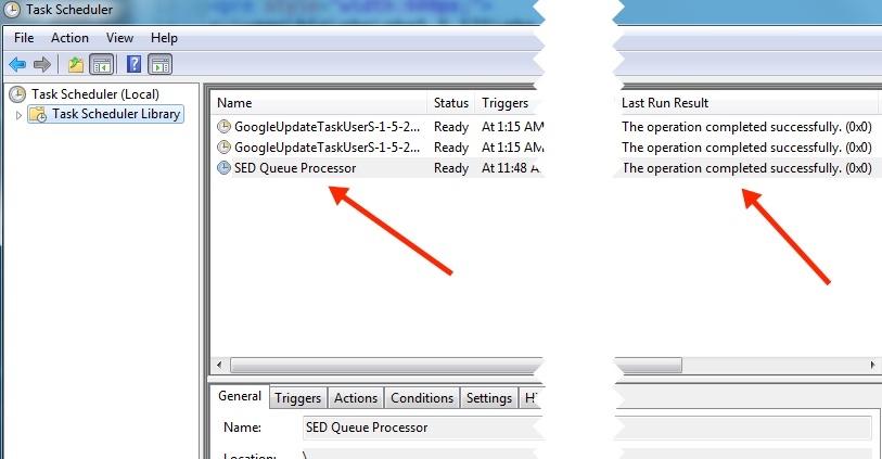 Windows Task Scheduler Status