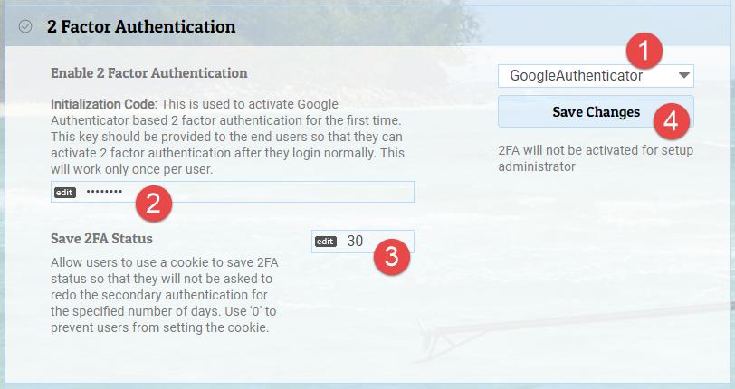 Google Authenticator 2FA
