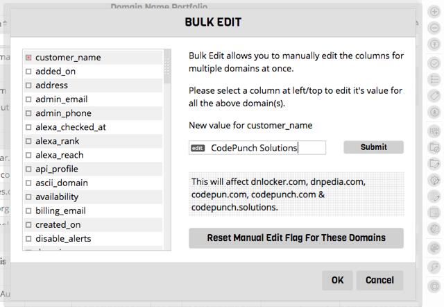 Bulk Edit Data