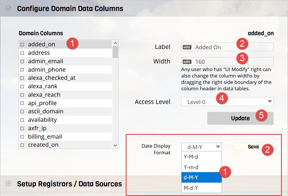Configure Data Columns