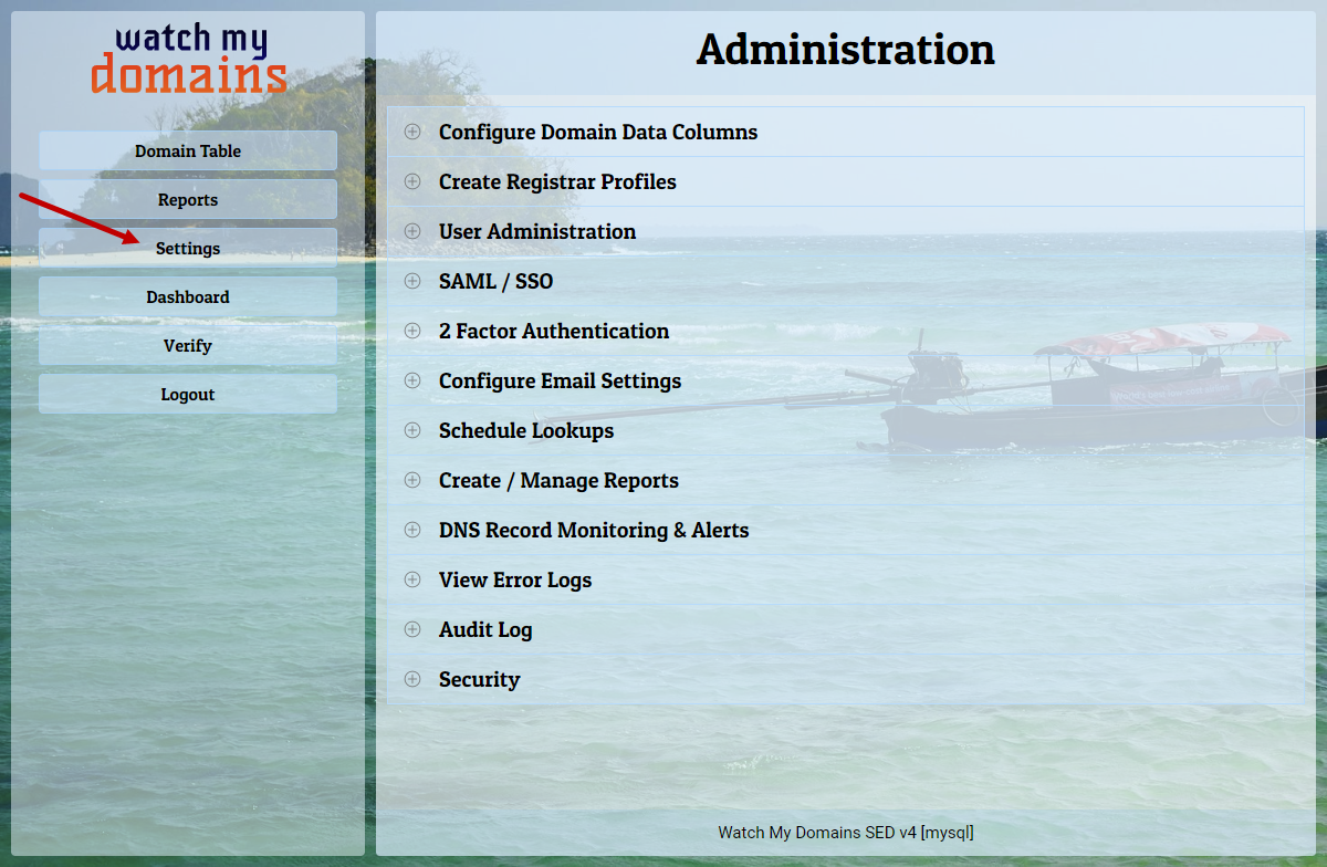 Administration | Settings