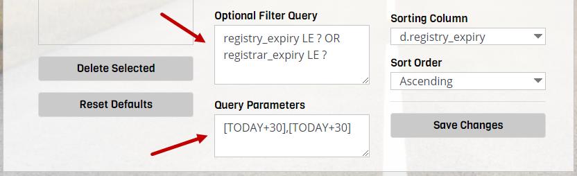 SQL query filter