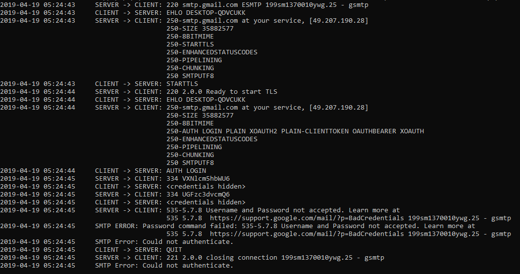 Email Troubleshooting using command line tool
