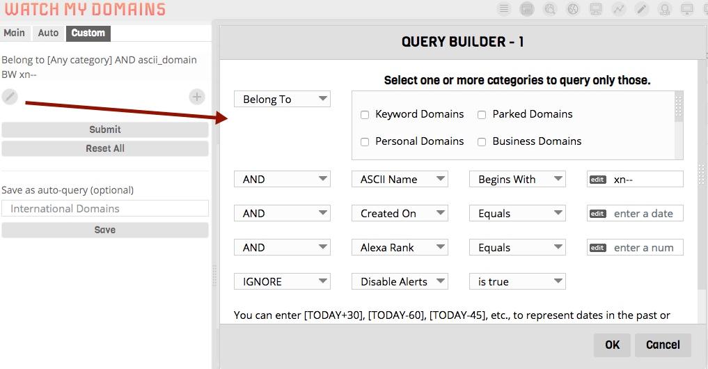 Custom Query Builder