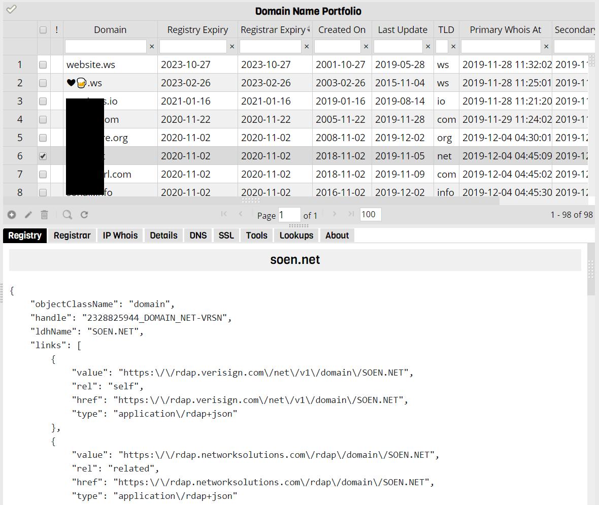 RDAP Sample Output