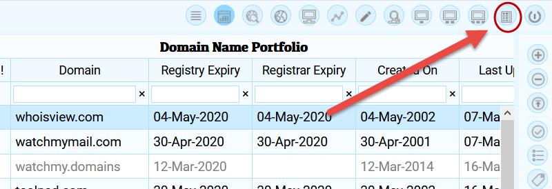 report viewer toolbar button