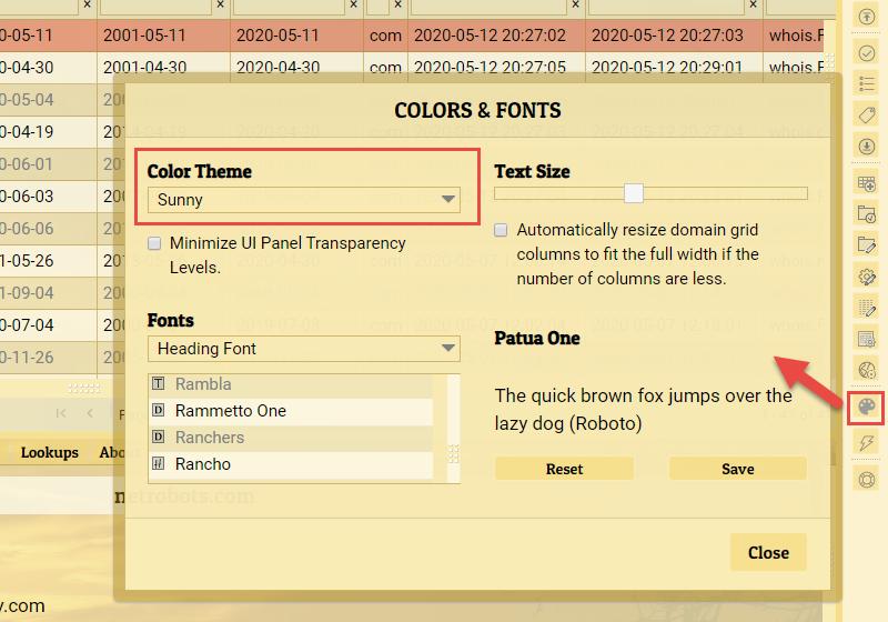 Visual Theme Selector and UI Setup