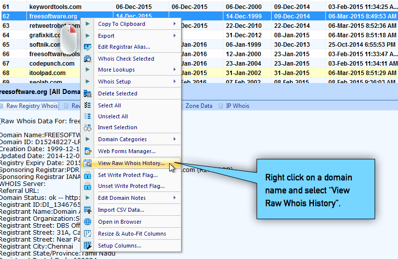 View Whois History