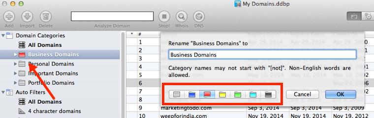 Rename Domain Categories