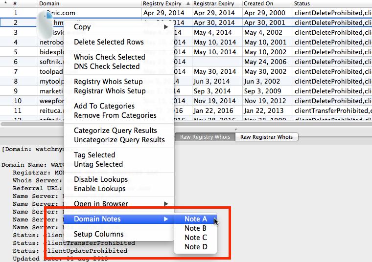 Editing Domain Notes