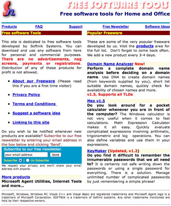 FreeSoftware.Org in 2000